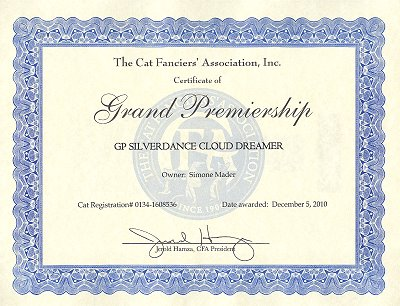 CFA GP Silverdance Cloud Dreamer